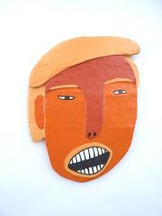 Trump Wall Decoration (jkw_fire_horse) Tags: trump wallhanging wallmask walldecor halloween scary orange president papiermache handmade ooak