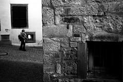 Black hole above her (Leica M6) (stefankamert) Tags: stefankamert street black hole leica m6 leicam6 summicron summicrondr kodak trix film analog grain wall blur blurry mono monochrome noir noiretblanc blackandwhite blackwhite bw baw tübingen woman