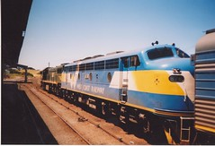 X54 B76 Warrnambool (tommyg1994) Tags: west coast railway wcr emd b t x a s n class vline warrnambool geelong b61 b65 t369 x41 s300 s311 s302 b76 a71 pcp bz acz bs brs excursion train australia victoria freight fa pco pcj