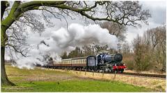 6023. Couldn't resist .......... (Alan Burkwood) Tags: gcr gwr collett 6023 kingedwardii steam locomotive passenger train