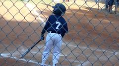 DSCN4207 (classroomcamera) Tags: baseball game 7 hitter hit pitch fence watch spectator helmet navy dirt uniform jersey