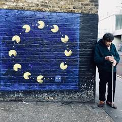 IMG_7115 (Kathi Huidobro) Tags: urbanscene urban pacman urbanart ottoschade streetphotography london brexit candid mural graffitiart streetart