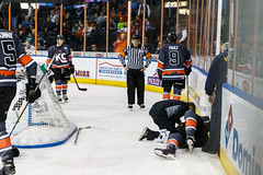 """Kansas City Mavericks vs. Indy Fuel, February 17, 2018, Silverstein Eye Centers Arena, Independence, Missouri.  Photo: © John Howe / Howe Creative Photography, all rights reserved 2018 • <a style=""""font-size:0.8em;"""" href=""""http://www.flickr.com/photos/134016632@N02/39490837165/"""" target=""""_blank"""">View on Flickr</a>"""