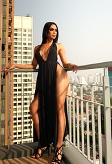 Enjoying the View (Jay Aremac) Tags: asian asiatin balkon fashion kleid ladyboy shemale tgirl thai thailaenderin transgender balcony boobs breast dress erotic erotisch heels highheels outside portrait sexy titten titties tranny transexual transgenderwoman wickedweasel bangkok thailand 344 ladybuy