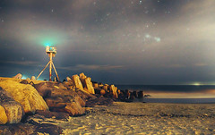 HDR Long Exposure (Kristina Leszczak) Tags: nikon nikond3200 nj newjersey jerseyshore jersey eastcoast shore pointpleasant pointpleasantbeach beach ocean oceancounty inlet longexposure landscape outside outdoor outdoors night nighttime sky clouds stars sand