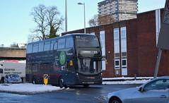 Bus number 6844 enters Coventry city centre (paulburr73) Tags: 6844 sn66wfo adl alexanderdennis platinum express servicex1 coventry e400 enviro400 mmc majormodelchange nxwm westmidlands nationalexpress birmingham upperwellstreet winter snow ice snowy x1 bc 2017 december