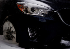 CX-5 on ice (the factory wall) Tags: thunderbay winter mazda cx5