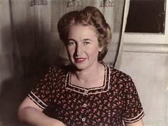 1948, Beirut: my grandmother Marie (maralina!) Tags: marie grandmother grandmère medzmama marieboudakian 1940s 1948 portrait vintage retro oldphoto handcoloredphotograph handtintedphoto