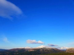 Iced Hills (Stacey Grant) Tags: mountains hills cairngorms snow clearday clouds sun trees aviemore uphigh windy
