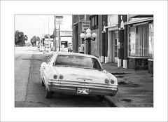 Chevrolet (DJ Wolfman) Tags: impala chevrolet old rusty blackandwhite bw ok oklahoma street streetshots olympusomd olympus em1markii zuiko zd 12100mmf4zuiko micro43