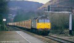 Grey 47 On A Grey Day (Michael McNicholas) (Neil Harvey 156) Tags: railway 47356 hebdenbridge caldervalley binliner class47 railfreightgrey brushtype4 sulzer duff spoon michaelmcnicholas