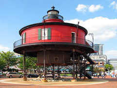 Seven Foot Knoll Lighthouse (Multielvi) Tags: baltimore maryland md city urban pier 5 v lighthouse inner harbor 7 seven foot knoll ft