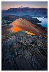 A Minute after Sunrise (Dave Fieldhouse Photography) Tags: catbells fells mountains mountain morning predawn dawn skiddaw cumbrianmountains cumbria lake lakedistrict lakes derwentwater keswick nationalpark rocks path braken bracken light sunrise portrait grass frost frozen cold chilly fuji fujifilm fujixt2 wwwdavefieldhousephotographycom