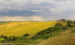 Farm houses and rain in the distance. (Gergely_Kiss) Tags: italy montepulciano springtuscany primavera tuscanlandscape tuscany toscana sundaylights