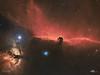 IC434_BiColour_2017-12-27 (MarkLB57) Tags: ic434 ngc2024 astronomy astrophotography azeq6gt zwoasi1600mmcool zwoefwelectricfliterwheel nebula orion horsehead flamenebula bicolour ha oiii meade6000115mmrefractor marklb57 emissionnebula darknebula