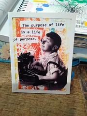 Purpose of Life, Greeting Card (bknill00) Tags: children boy life typewriter vintage midcentury greeting card purpose god retro