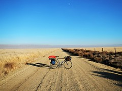 Carrizo Plain Bicycle Portrait (guidedbybicycle) Tags: bicycle bike tour touring california winter carrizo plain national landmark desert nature natural beauty wonder