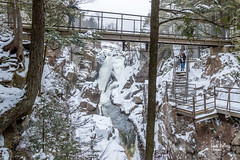 High Falls Gorge (James Kellogg's Photographs) Tags: high falls gorge water fall waterfall bridge walk way overlook snow old house picnic area scary winter wonderland
