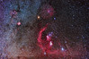 Orion with Nebulosity and Spiky Stars (Amazing Sky Photography) Tags: barnard'sloop beltoforion betelgeuse canon5dmkii constellation emissionnebula horsehead hunter orion orionnebula rigel rosette filter modified nebulosity starspikesnisinaturalnight