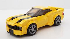 Lego Bumblebee Camaro MOC (hachiroku24) Tags: lego chevrolet camaro bumblebee transformers moc instructions