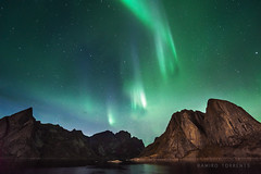 Lofoten Islands (Ramiro Torrents) Tags: landscape mountains wilderness lonely norway fjord northernlights auroraborealis nightphotography night nightscape sony a7r
