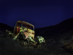 Abandoned in the desert (Trent9701) Tags: california deathvalley trentcooper vacation desert nationalparks night nightsky nightscape travel