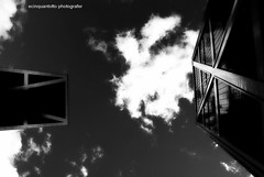 space oddity (Ecinquantotto ( + 1.320.000 views !!! GRAZIE) Tags: architettura architecture abstract bn bw blackwhite dreams diagonale diagonal dinamic dinamismo españa geometrie geometric madrid nikon nikond3000 nuvole oddity odissea space verticale