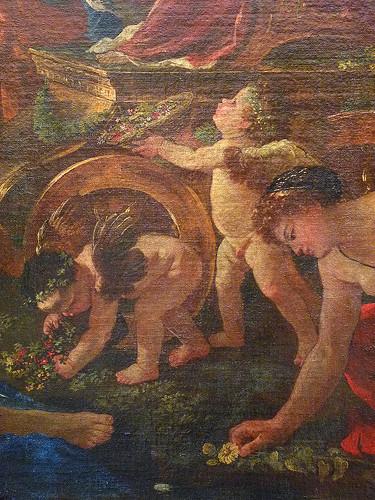 POUSSIN Nicolas,1627-28 - Le Triomphe de Flore (Louvre) - Detail 121