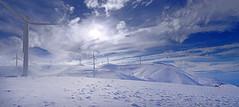IMAGINE... (GEORGE TSIMTSIMIS) Tags: windmills panachaikonmt sun sky horizon clouds blue white panorama pentaxk1 ricohimaging wideangle patras achaia greece winder