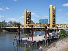 (procrast8) Tags: sacramento california ca tower bridge river ziggurat calstrs building