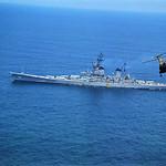 Vietnam War 1968 - Aerial View of USS New Jersey thumbnail