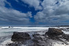 Volcanic Aftermath (Denis Moynihan) Tags: landscape seascape sky clouds sea coast shore waves basalt volcano volcanic rock tide fuerteventura lanzarote travel nature canary islands spain atlantic ocean water bay