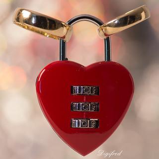 Locked in love.