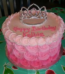 rosette (1) (backhomebakerytx) Tags: cake birthday kid princess rosettes ombre pink cute girl backhomebakery