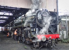 Southall West London 21st February 2018 (loose_grip_99) Tags: cathedralsexpress britishrailways standard pacific 462 70013 olivercromwell greateastern railway railroad rail train steam engine locomotive gassteam uksteam trains railways transportation 5305la shed mpd depot southall london mainline february 2018