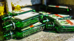 Hinterlassenschaft (2) (Lens Daemmi) Tags: alkoholismus flachmann jägermeister alcoholism hipflask