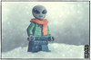 They told me it was almost Spring in the Northern hemisphere of Earth… (Priovit70) Tags: lego minifigure alien scarf marchsnow olympuspenepl7