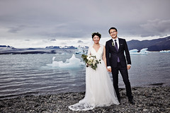 Wang Song & Ran (LalliSig) Tags: wedding photographer iceland people portrait portraiture pink jökulsárlón glacier lagoon water ice summer