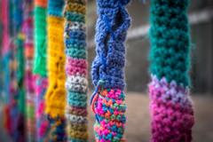 A Fence in Winter - HFF! (suzanne~) Tags: crochet f56 fence lensbaby softfocusoptic wool knit keepingwarm munich germany fencefriday
