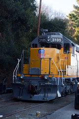 ex-Union Pacific No. 3105 (jbp274) Tags: trains museum preserved railgiants lacountyfairgrounds locomotive up unionpacific emd sd40