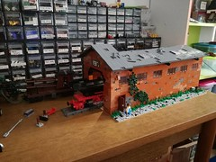 New diorama, W.I.P. (kr1minal) Tags: lego moc train steam wwii worldwar