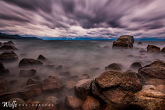 Stormy Shores at Sand Harbor (Aaron_Smith_Wolfe_Photography) Tags: 20mm d810 nikon longexposure storm wind lake sierranevada laketahoe rocks sandharbor