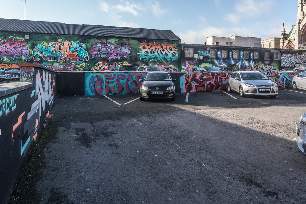 STREET ART AT THE TIVOLI CAR PARK IN DUBLIN [LAST CHANCE BEFORE THE SITE IS REDEVELOPED]-135659