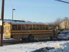 George M. Carroll Inc. #105 (ThoseGuys119) Tags: georgemcarrollinc newburghny schoolbus ic international 3800 tintedwindows snow awesome
