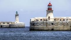 Lighthouses (Rik Tiggelhoven Travel Photography) Tags: lighthouse grand harbor harbour sea water valletta malta unesco europe europa fort canon eos 6d ef70300mmf456isusm fullframe full frame rik tiggelhoven travel photography faro vuurtoren leuchtturm phare