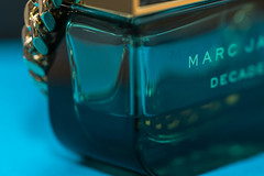In a Bottle - Macro Monday's (Photography Martin Horvath) Tags: bottle macromondays makro macrogoss blue green inabottle perfume light fe90mmf28