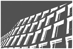 Square Waves In Bright Darkness (Armin Fuchs) Tags: arminfuchs würzburg windows architecture