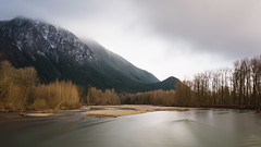 Nobody Said It'd Be Easy (John Westrock) Tags: landscape mountains nature longexposure cloudy overcast river snoqualmie snoqualmieriver washingtonstate pacificnorthwest threeforksnaturalarea canoneos5dmarkiii sigma35mmf14dghsmart bwnd1000x mtsi