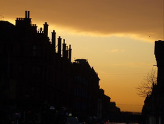 Dumbarton Road (Wider World) Tags: scotland glasgow westend partick dumbarton road sunset roofscape chimneys silhouette