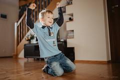 Gooooaalll!!! (dziurek) Tags: d750 nikon dziurek dziurman pdziurman fx happy happiness joy celeration home boy kid child childhood smile sunlight 35 mm sigma art football